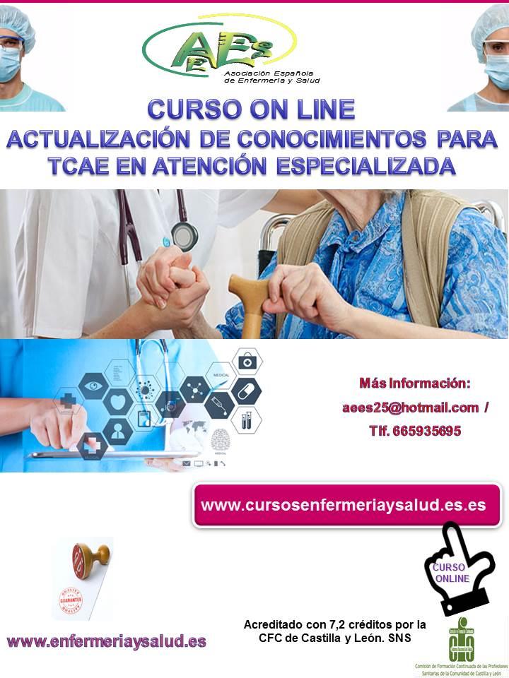 Curso de actualización de conocimientos para TCAE en Atención Especializada