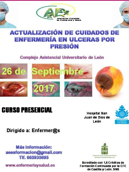 Curso de Actualización de Cuidados de Enfermería en Úlceras por Presión (U.P.P.) (1ª EDICIÓN)