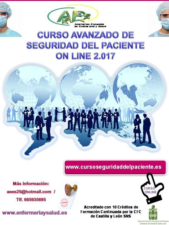 Curso avanzado de seguridad del paciente online 2017