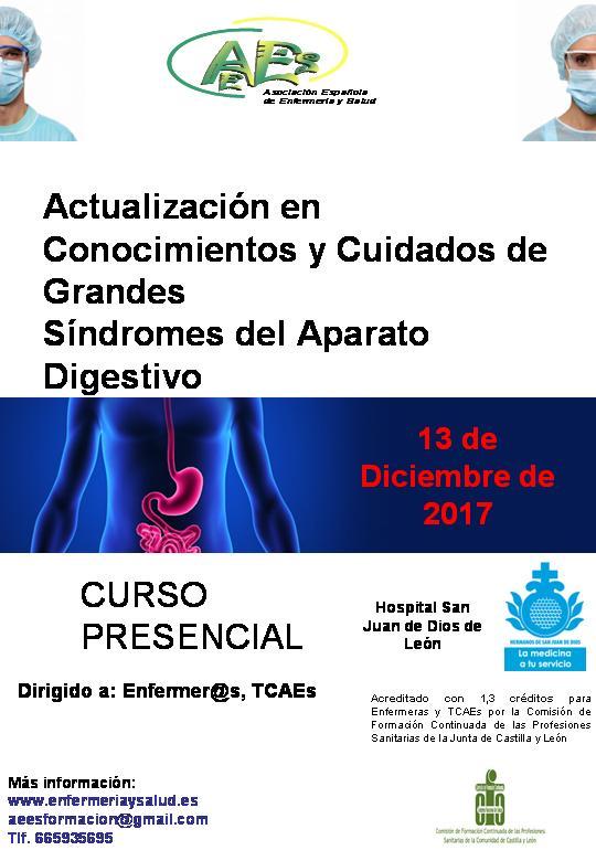 Curso de Actualización de Conocimientos y Cuidados de Grandes Síndromes del Aparato Digestivo (2ª EDICIÓN)
