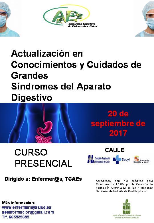 Curso de Actualización de Conocimientos y Cuidados de Grandes Síndromes del Aparato Digestivo (1ª EDICIÓN)