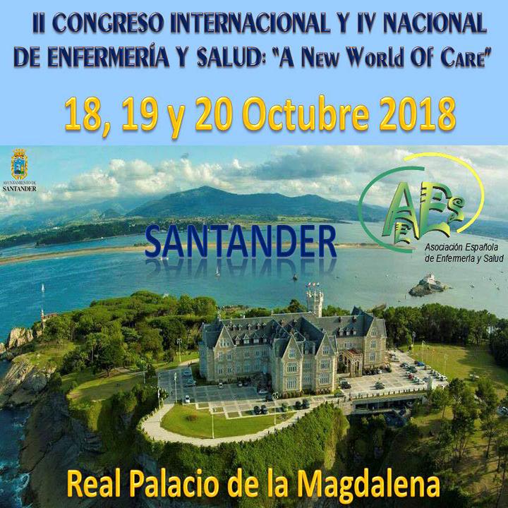"""II CONGRESO INTERNACIONAL Y IV NACIONAL DE ENFERMERÍA  Y SALUD: """"A New World Of Care"""""""