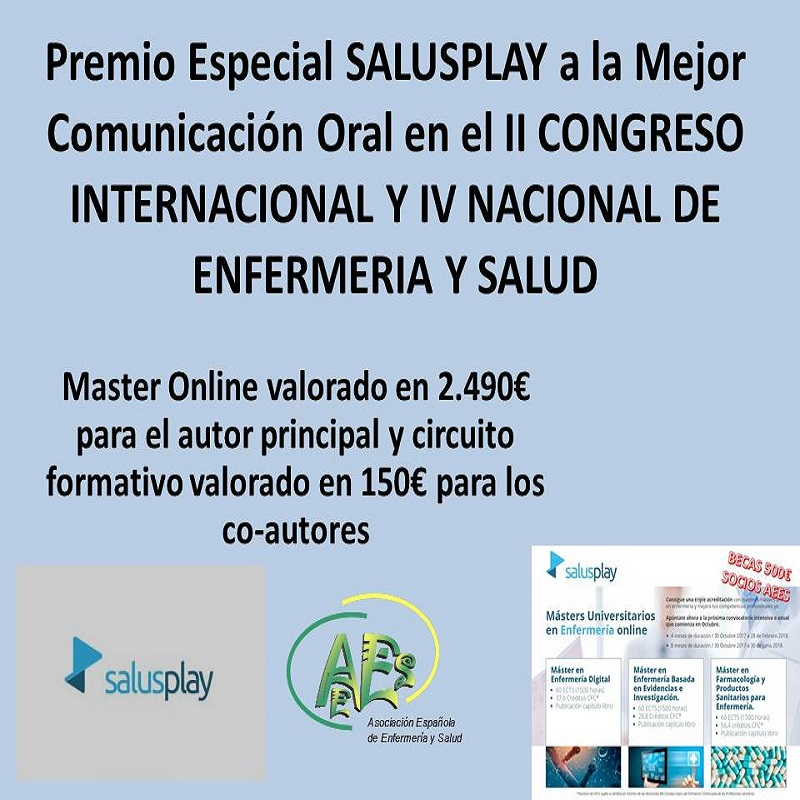 PREMIO ESPECIAL SALUSPLAY A LA MEJOR COMUNICACIÓN ORAL