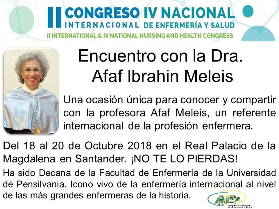 ENCUENTRO CON LA DRA. AFAF IBRAHIN MELEIS