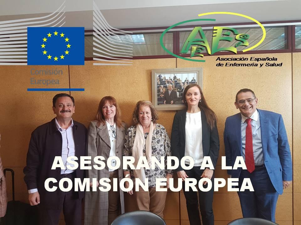 LA ASOCIACION ESPAÑOLA DE ENFERMERIA Y SALUD ASESORA A LA COMISIÓN EUROPEA EN MATERIA DE SANIDAD DESDE EL PUNTO DE VISTA ENFERMERO