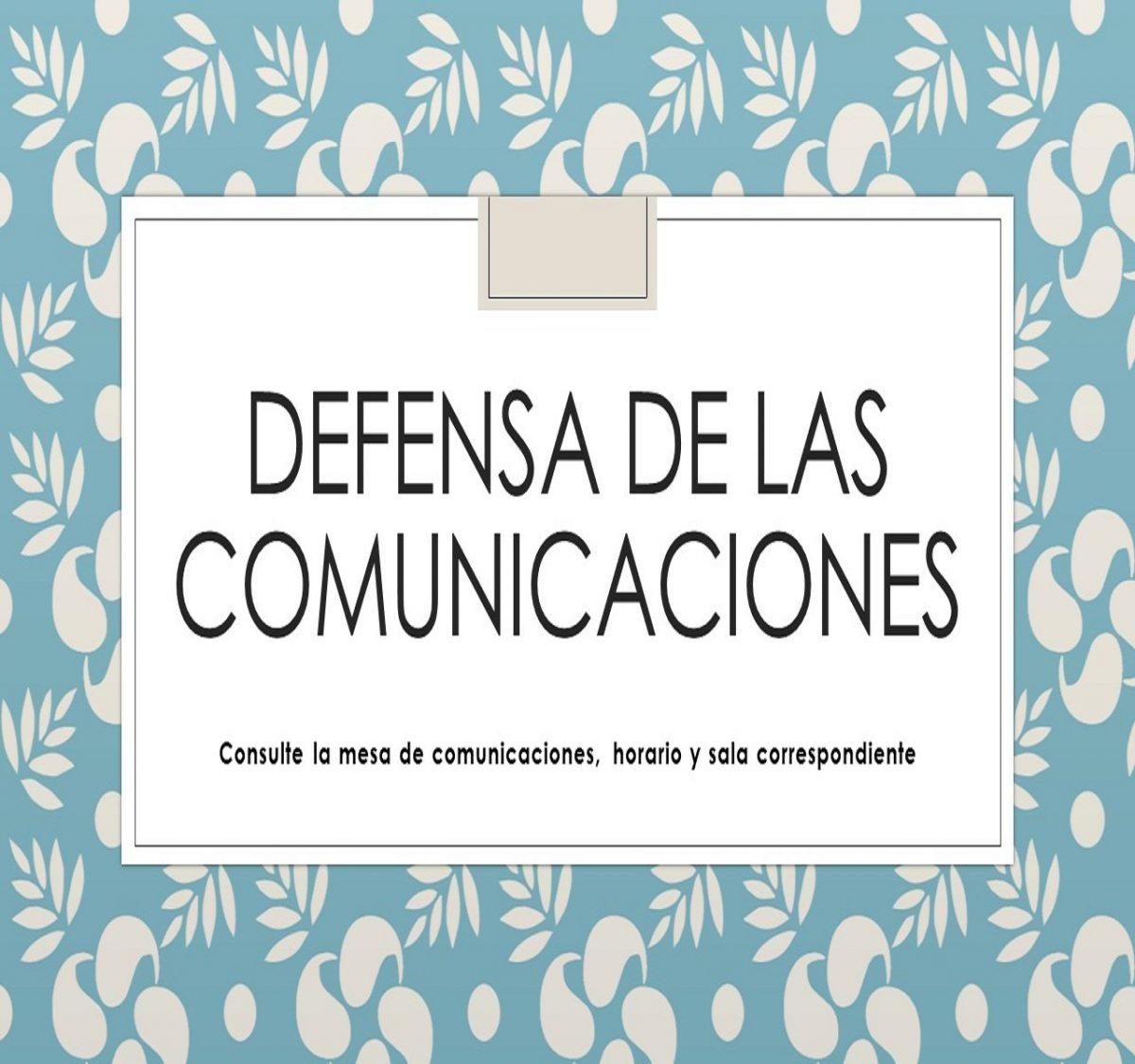 DEFENSA DE COMUNICACIONES EN EL V CONGRESO AEES EN LEON