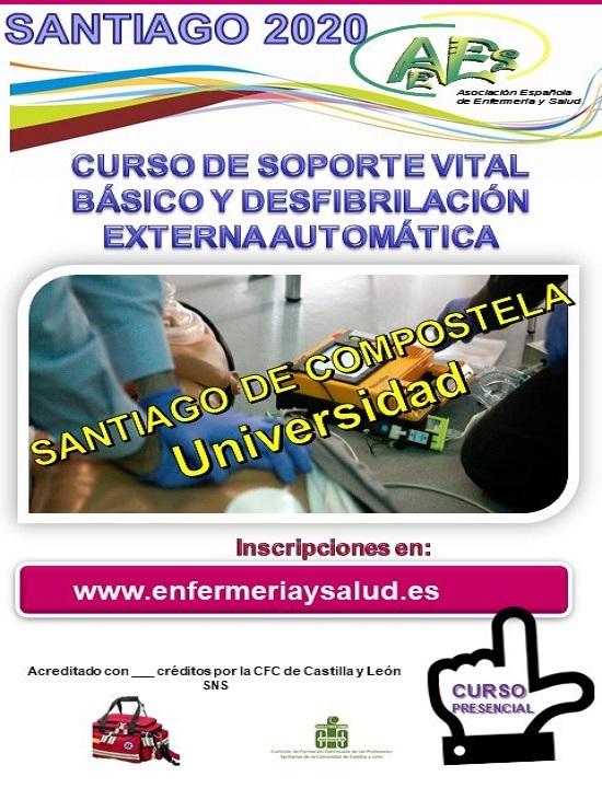 CURSO DE SOPORTE VITAL BÁSICO Y DESFIBRILACIÓN EXTERNA AUTOMÁTICA. SANTIAGO DE COMPOSTELA