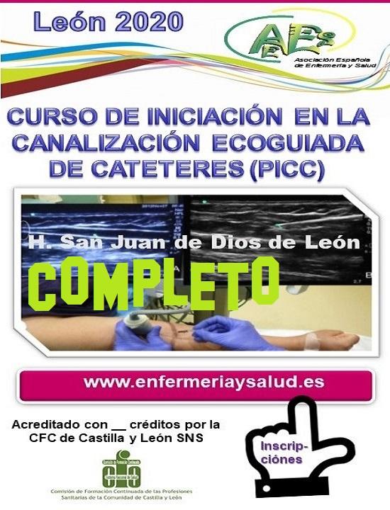CURSO DE INICIACIÓN EN LA CANALIZACIÓN ECOGUIADA DE CATETERES (PICC) H. SAN JUAN DE DIOS DE LEON