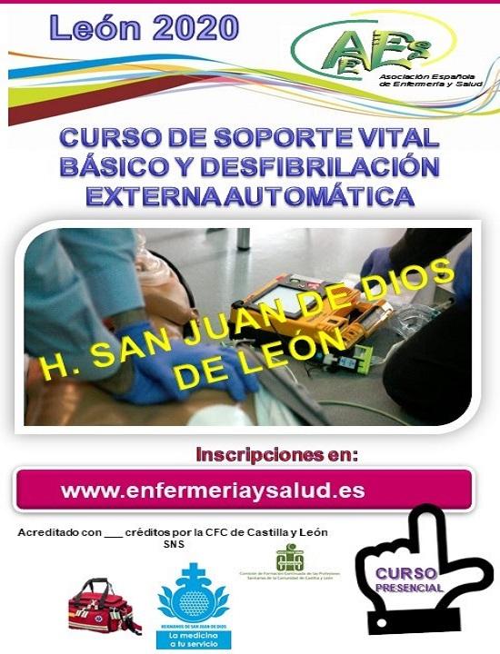 CURSO DE SOPORTE VITAL BÁSICO Y DESFIBRILACIÓN EXTERNA AUTOMÁTICA H. SJDD