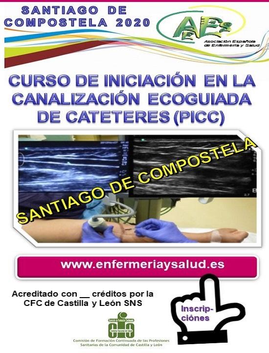 CURSO DE INICIACIÓN EN LA CANALIZACIÓN ECOGUIADA DE CATETERES (PICC) SANTIAGO DE COMPOSTELA