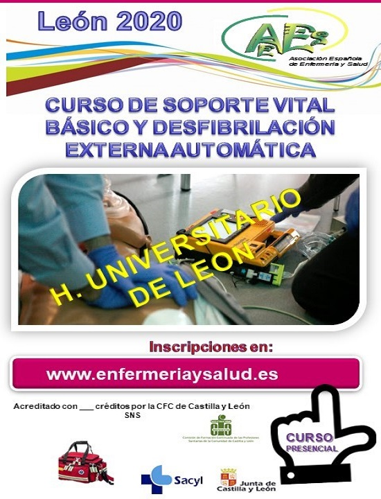 CURSO DE SOPORTE VITAL BÁSICO Y DESFIBRILACIÓN EXTERNA AUTOMÁTICA -CAULE