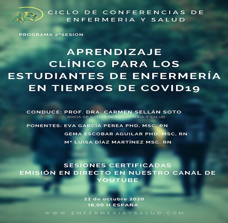 CICLO DE CONFERENCIAS DE ENFERMERIA Y SALUD  (PROXIMA SESION 22 DE OCTUBRE)