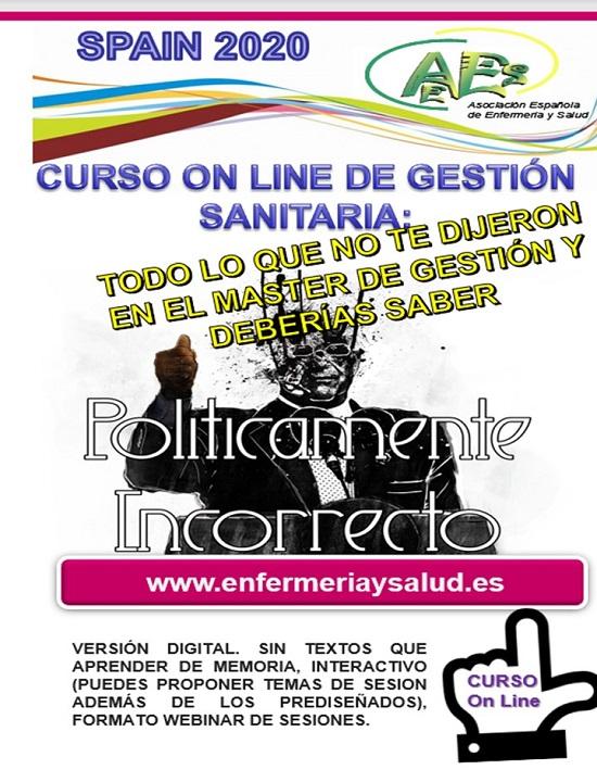 CURSO DE GESTION SANITARIA -INCORPORATE CUANDO PUEDAS-