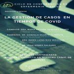 CICLO DE CONFERENCIAS DE ENFERMERIA Y SALUD: LA GESTIÓN DE CASOS EN TIEMPOS DE COVID 19 DE NOVIEMBRE 18H.